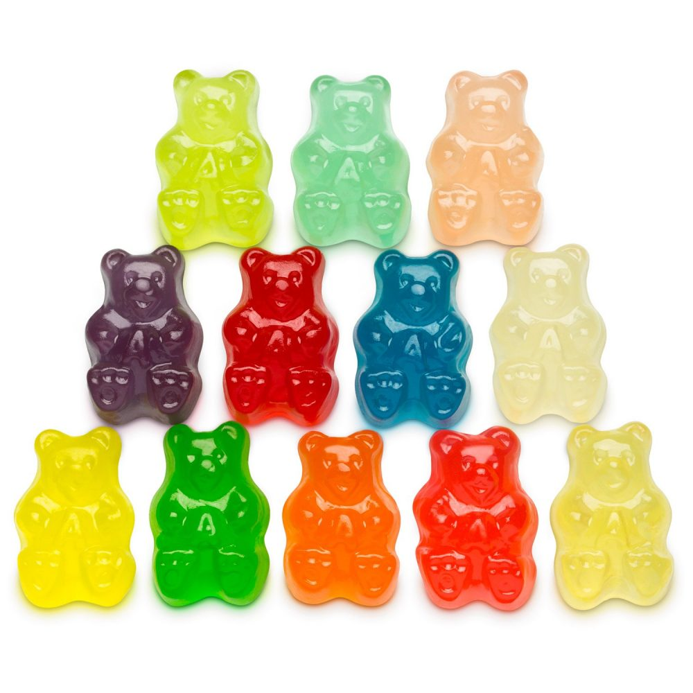 12 flavors of Gummi Bears